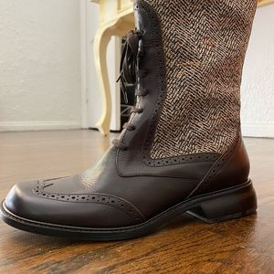 Matisse Brown Tweed Tall Boots 8.5M